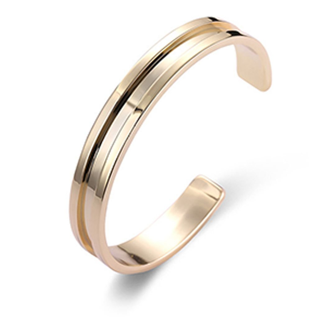 Bobury Men Women Stainless Steel Bangle Roman Numerals Pure Color Cuff Bracelets Open Bangle