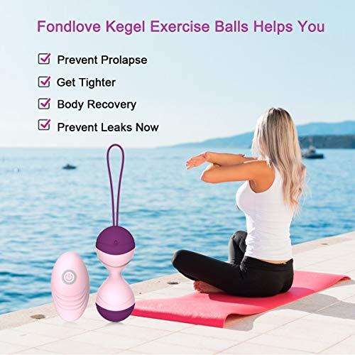 Cordless Remote Control Massager Ball - 10 Different Vibration - USB Charging - Kegel Ball for Bladder Control, Pelvic Floor Exercises & Tightening(Purple)