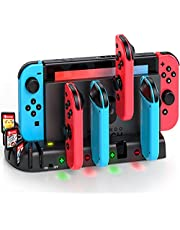 Joycon Controller Charger Dock Station Compatible with Nintendo Switch, KDD Joycon Charging Dock Station with 8 Game Slots Compatible with Nintendo Switch Joycon