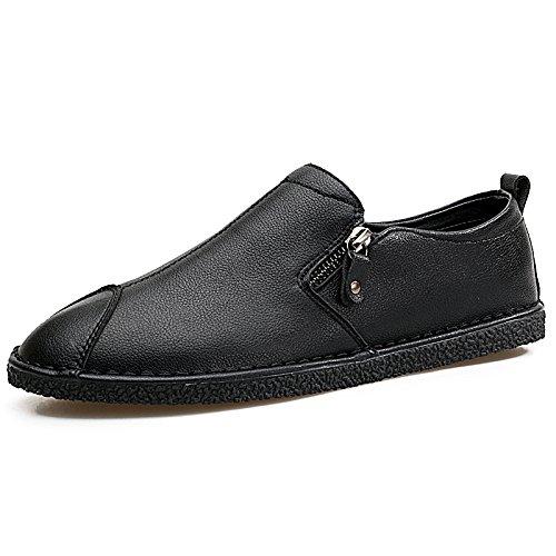 El hombre que conducía el coche Patines Calzado casual calzado casual clásico de alta calidad Forty-three|black black