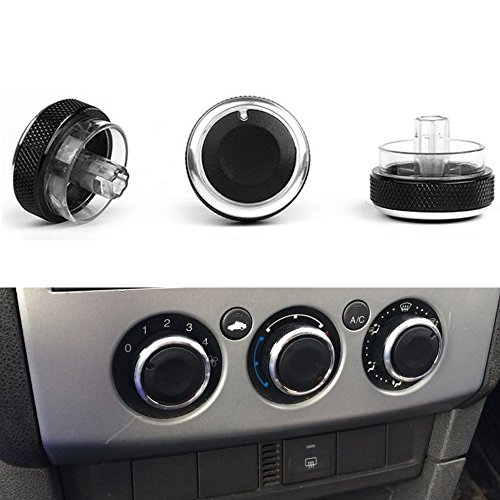- PolarLander 3pcs/Lot Air Conditioning Heat Control Switch Knob AC Knob For Ford Focus 2 MK2 Focus 3 MK3 Sedan Hatchback Mondeo Car Styling Black