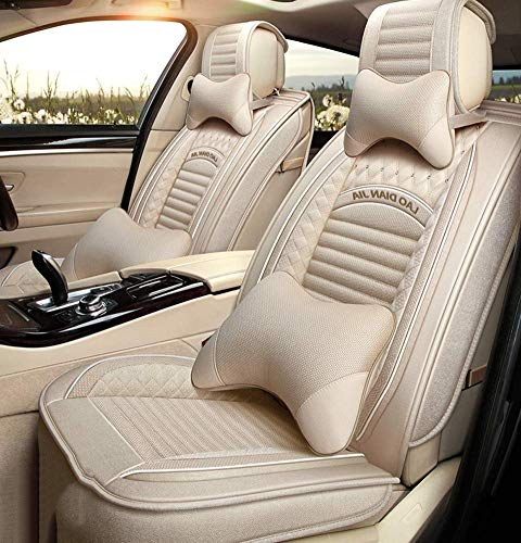 Easy To Clean PU Leather Car Seat Cushions 5 Seats Full Set - Anti-Slip Suede Backing Universal Fit Car Seat Covers for Both Fabric And Leather Car Seats: Amazon.co.uk: Kitchen & Home