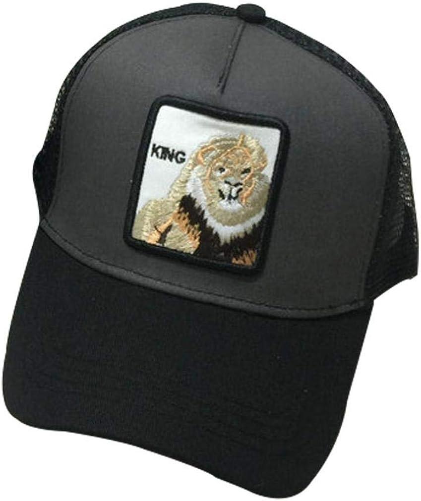 Adjustabel Animals Cat Embroidery Baseball Cap Casual Hip-Hop Mesh Trucker Hat for Men Women