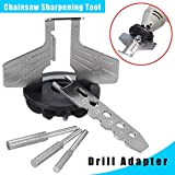 DWZ Chainsaw Sharpening Tool Attachment Rotary Power Drill Hand Sharpener Adapter