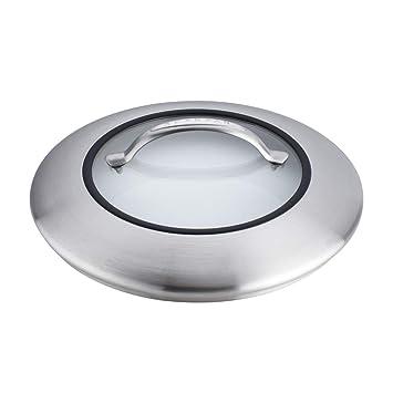 Scanpan 65903200 CTX acero inoxidable/tapa de cristal, 12,75, plata