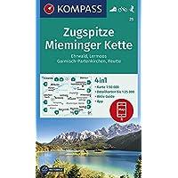 KOMPASS Wanderkarte Zugspitze, Mieminger Kette, Ehrwald, Lermoos, Garmisch-Partenkirchen, Reutte: 4in1 Wanderkarte 1…