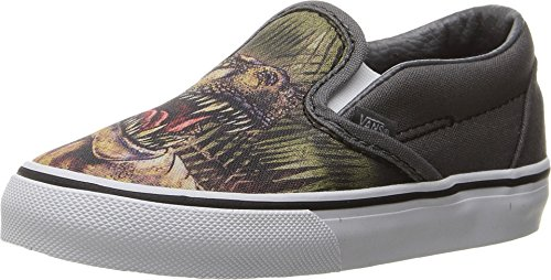 Vans Toddler (T-Rex) Slip-On Pewter/True White VN0A32QJLU5 Toddler Size 6