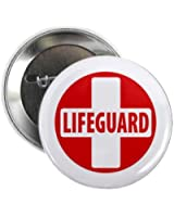 LIFEGUARD CROSS Red White Heroes 2.25 Pinback Button Badge