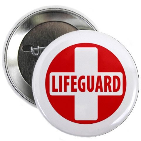 LIFEGUARD CROSS Red White Heroes 100-Pack of 2.25 Pinback...