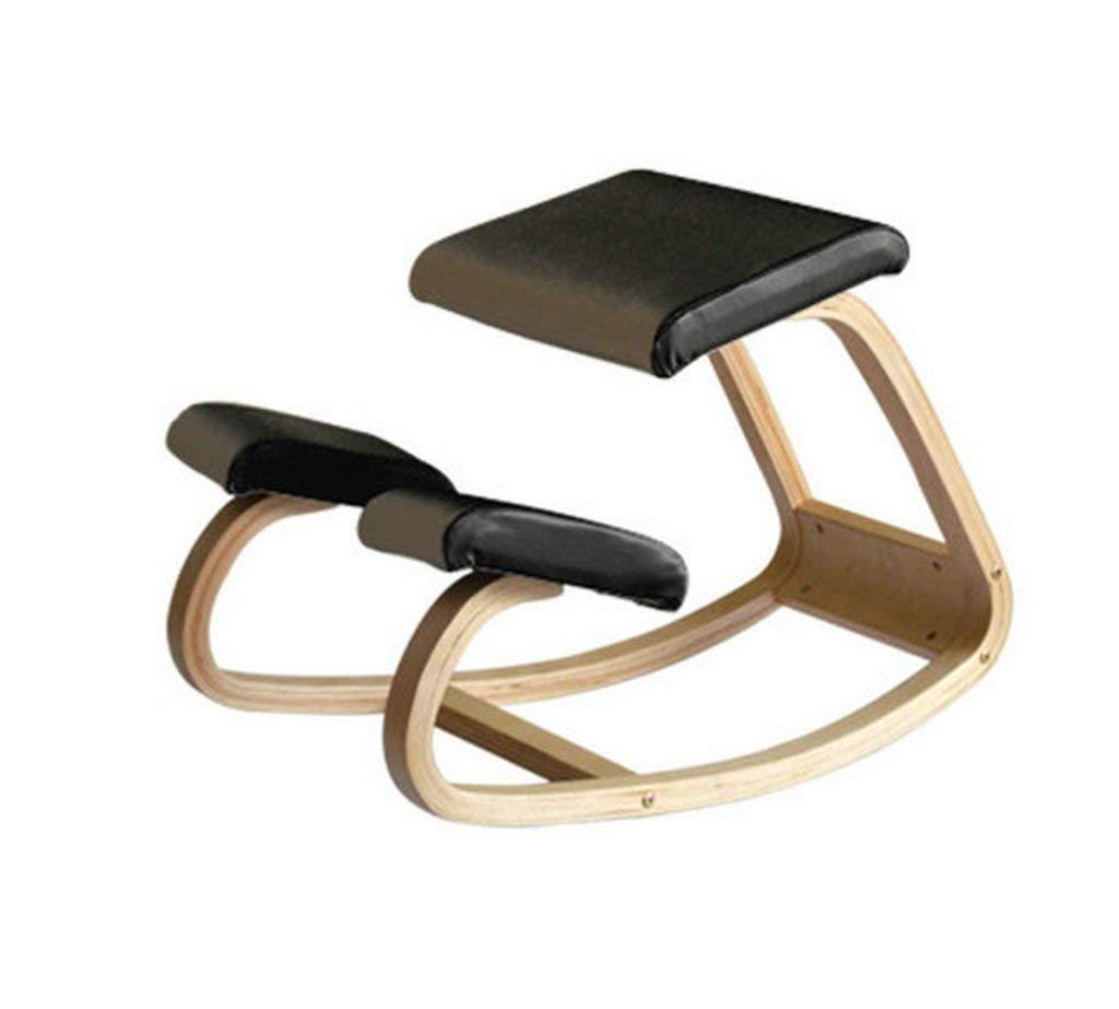アンチザトウヒラチェア椅子、PU無垢材アンチ近視対策ザトウクジラの上に座って椅子に乗る子供たちは椅子の正しい座り姿勢を学びます(色:黒) (色 : ブラック, サイズ : -) B07SFDY3FN ブラック