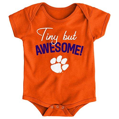 - Gen 2 NCAA Clemson Tigers Newborn & Infant Awesome Script Bodysuit, 3-6 Months, Orange