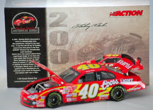 2003 - Action - Historical Series - Sterling Marlin - #40 Coors Light / Target - 2001 Dodge Intrepid - 1 of 2772 - New - Mint - OOP