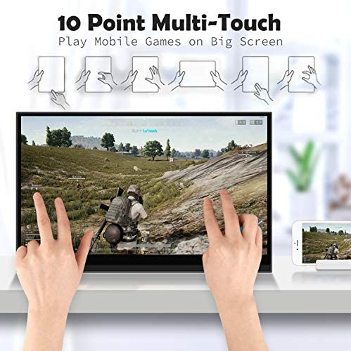 4K Portable Monitor Touchscreen 15.6 Inch UHD 3840×2160 Gravity Sensor Automatic Rotate Game Monitor IPS Eye Care Metal Frame Dual USB with HDMI Type C Speakers for Laptop PC PS4 Xbox Mac Phone 51f9cd5pllL