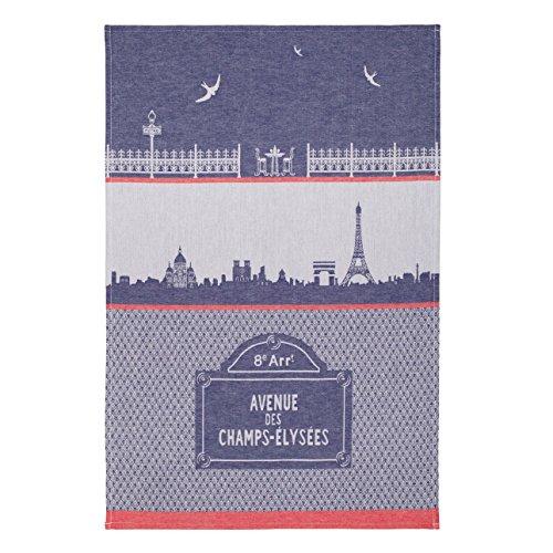 Jacquard Towel Paris Collection, Monuments De Paris, PJ Bleu, 20-Inches by 30-Inches, Blue ()