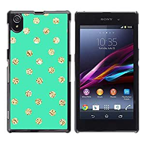 For Sony Xperia Z1 L39 C6902 C6903 C6906 C6916 C6943 ,S-type® Dot Green Screen Gold Glitter Shiny - Arte & diseño plástico duro Fundas Cover Cubre Hard Case Cover