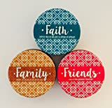 Faith, Family and Friends Two Wick Scented Candles- Pack of 3