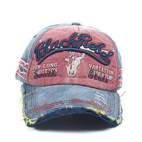 HYIRI Wild Fashion Unisex Embroidery Baseball Adjustable Cap Casual Street Dance Hats Red