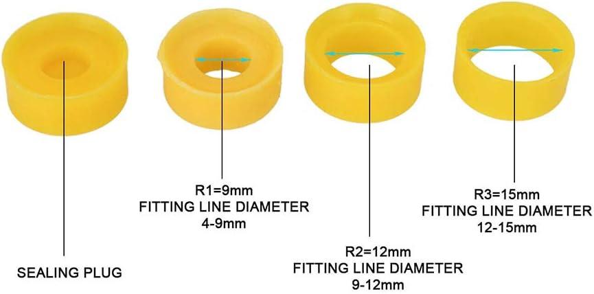 Exterior Resistente al Agua IP68 Distribuidor de 3 v/ías Alcance del Cable 4 a 15 mm Cable de alimentaci/ón el/éctrica Externa Cajas de Conexiones szdc88 Caja de Conexiones