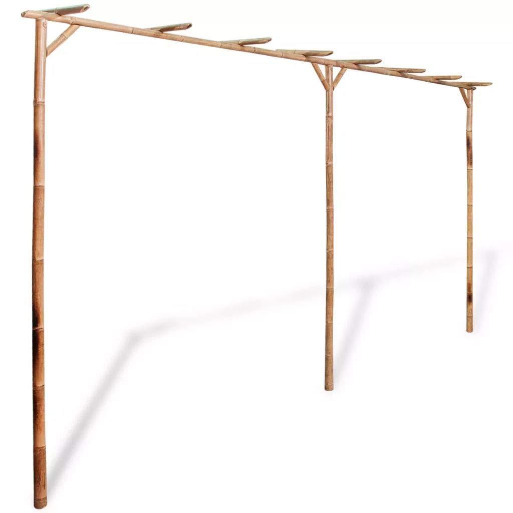 JBDSupply Pergola Bamboo 151.6inch x 15.7inch x 80.7inch (Brown) (42840)
