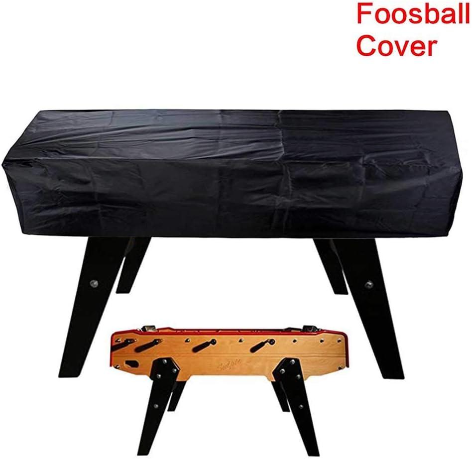 Funda para mesa de fútbol de 420D Oxford impermeable para futbolín, para exteriores, fútbol, billar, protección contra el polvo, para 163 x 115 x 48 cm, No nulo, negro, Tamaño libre: Amazon.es: Hogar