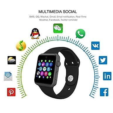 Amazon.com: Grass 135 lemfo Bluetooth Smart Watch lf07 smartwatch for Apple iPhone iOS Android Smartphones Looks Like Apple Watch reloj inteligente: Cell ...