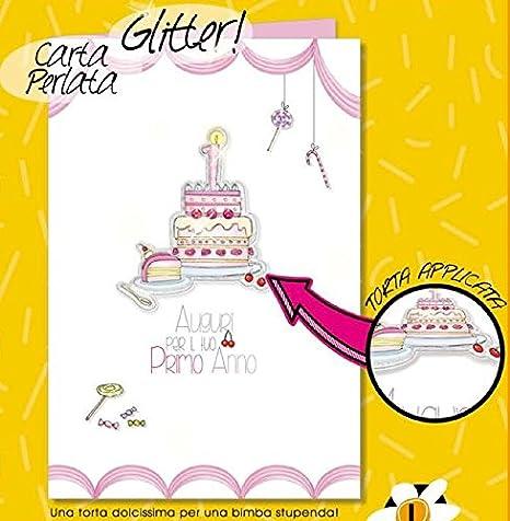 Tarjeta Felicitación Primer Cumpleaños 1 años niña tarta ...