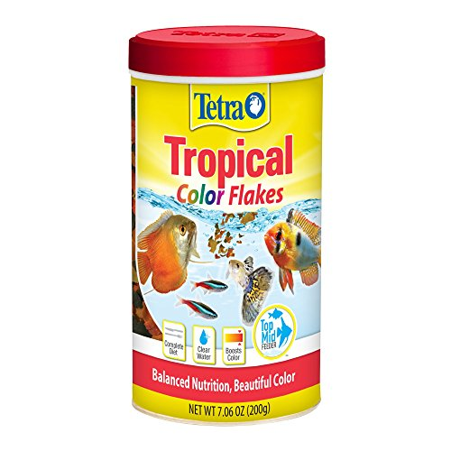 (Tetra Tropical Color Flakes, Clear Water Advanced Formula)