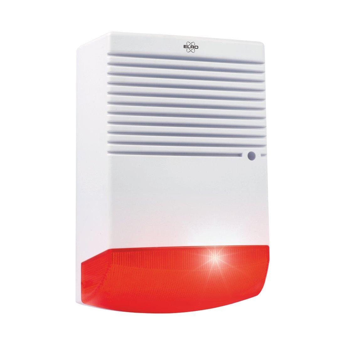 ELRO ADS1F Dummy Alarmsirene mit blinkendem LED-Licht ELRO Europe
