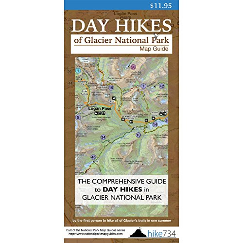 Day Hikes of Glacier National Park Map-Guide