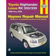Toyota Highlander, Lexus RX 300/330 1999 thru 2006