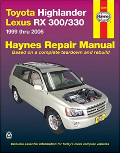 06 2006 Lexus RX 330//RX330 owners manual