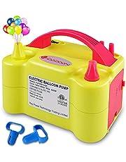 ID IDAODAN Electric Balloon Pump, Portable Dual Nozzle Electric Balloon Inflator(Yellow)