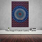Tapestry Single Unique Wall Hanging Art Decor Mandala Tapestries Hippie Dorm 84X55 inches AAKRITI GALLERY