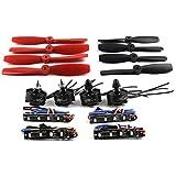 QWinOut Mini Racing Drone 210/250/270 Quadcopter Brushless DIY Combo Set : 2x 5045 Propellers & 4x BLheli REV11.2 15A ESC LED Light & 4Pcs 2204 2300KV Motor CW+CCW