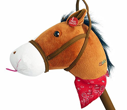 WALIKI Toys Stick Horse (Plush with Sound, for Kids and -