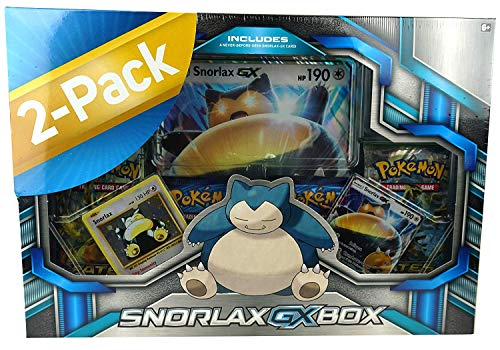 Pokemon Trading Card Game Sets- Pack of Two - Dragonite Ex Box and Snorlax Gx Box ()