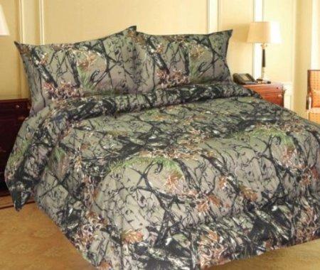 WOODLAND CAMOUFLAGE - Microfiber Comforter Spread - KING