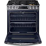 "Samsung Appliance NX58K9850SG 30"" Slide-in Gas Range with Sealed Burner Cooktop, 5.8 cu. ft. Primary Oven Capacity, in Black Stainless Steel"