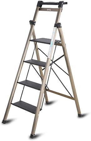 Bseack_store Escalera Ligera de 4 Pasos con la Tabla de Herramientas Escalera Plegable de aleación de magnesio Ingeniería Escalera for la Limpieza de Interiores Que Sube/Capacidad de Carga: 330lbs: Amazon.es: Hogar