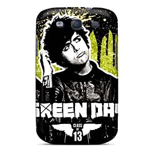 Great Hard Cell-phone Cases For Samsung Galaxy S3 (Fce18711foSQ) Unique Design High-definition Green Day Band Image