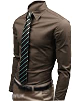 Keral Casual Slim Fit Unique Neckline Stylish Long Sleeve Mens shirts