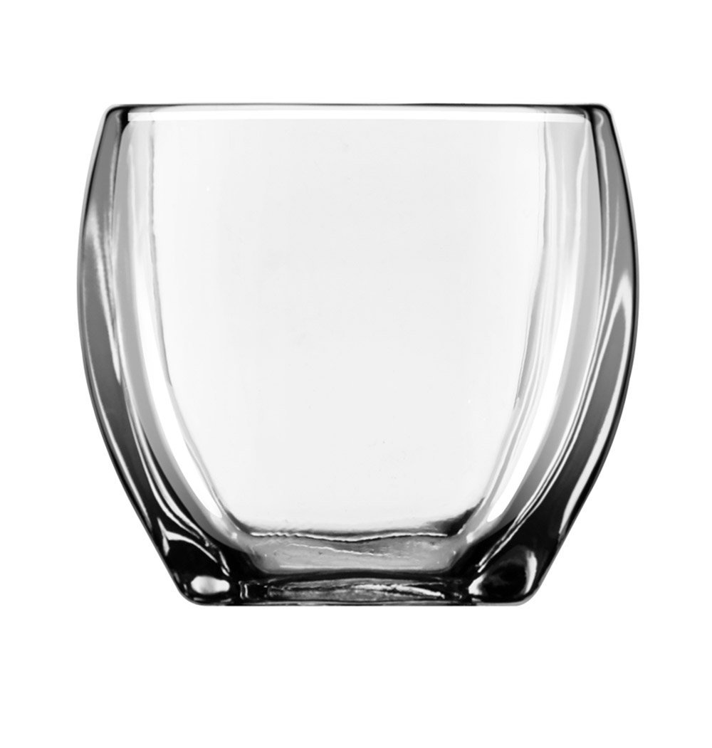 Libbey Tapered Square Votive Holder, 3.8-Inch Tall, Clear, Set of 12