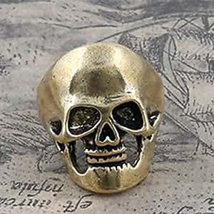 NASKE anillos de la venda del cráneo de la vendimia de los hombres