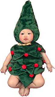DAYAN Cute Baby Photograph Props Christmas tree Cute Baby Christmas Outfits,Santa Claus Costume for Baby (0-6 Months)