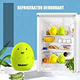PSFS Refrigerator Deodorant box Cute Eggs Shape Color Kitchen Refrigerator Deodorizer Air Purifying Bag Air Purifiers Fridge Closet Deodorant Box Odor Eliminator Box (Green)