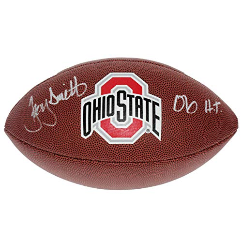 Troy Smith Autographed Signed Ohio State Buckeyes White Panel Football - 06 HT - Certified Authentic ()