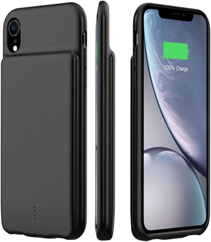 Black HiKiNS Battery Case for iPhone XS Max, Rechargeable Extended Charger Case Portable Protective Charging Case Backup Power Bank Case for iPhone XS Max 5000mAh