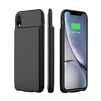 HiKiNS Funda Batería para iPhone XR 5000mAh Externa Ultra ...