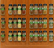 SimpleHouseware 30 Spice Gripper Clips Strips Cabinet Holder - 6 Strips, Holds 30 Jars