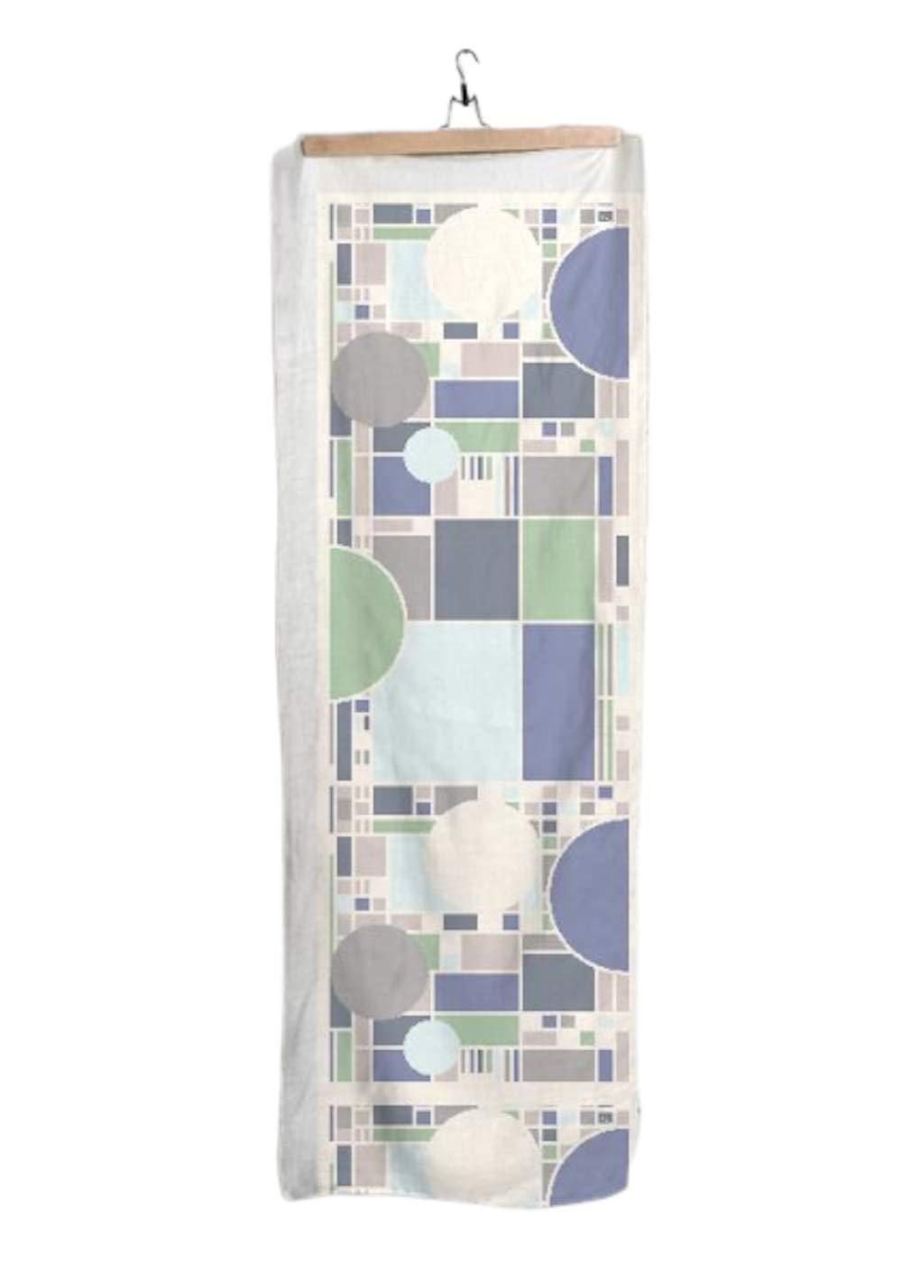 VIDA Coonley Seaglass Modal Scarf 28'' × 78'' | Original Artwork by Frank Lloyd Wright | Custom Made to Order